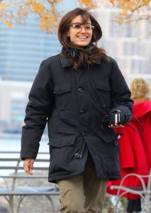 Emmy Rossum cold pursuit movie cotton jacket