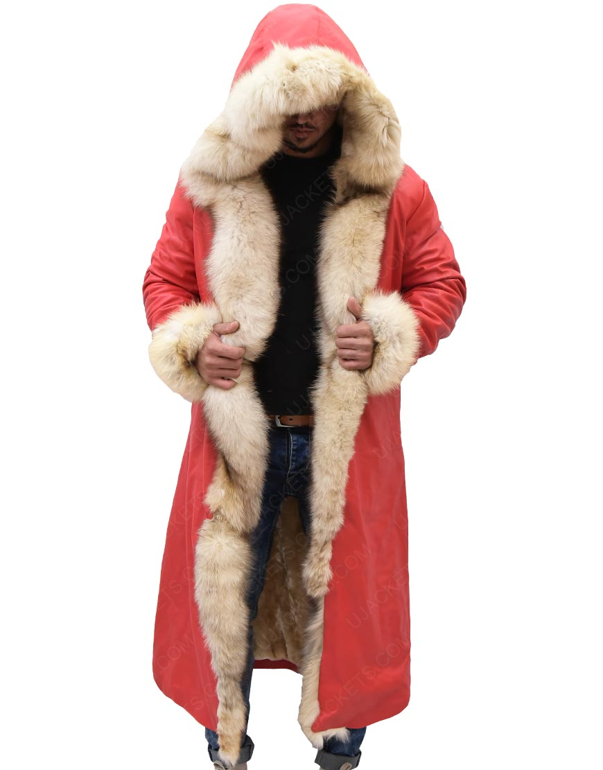Kurt Russell Shearling Trench Coat