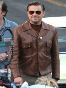 Once Upon a Time in Hollywood Rick Dalton Brown Jacket