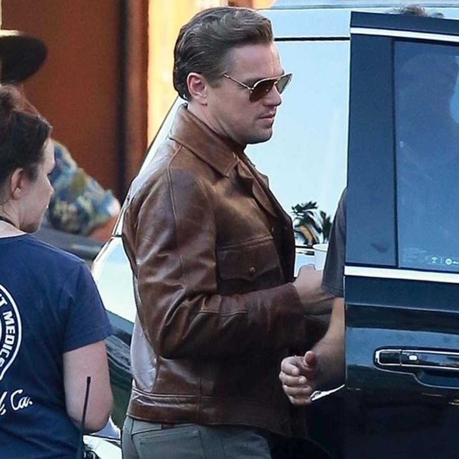Once Upon A Time In Hollywood: Rick Dalton Once Upon A Time In Hollywood Leather Jacket
