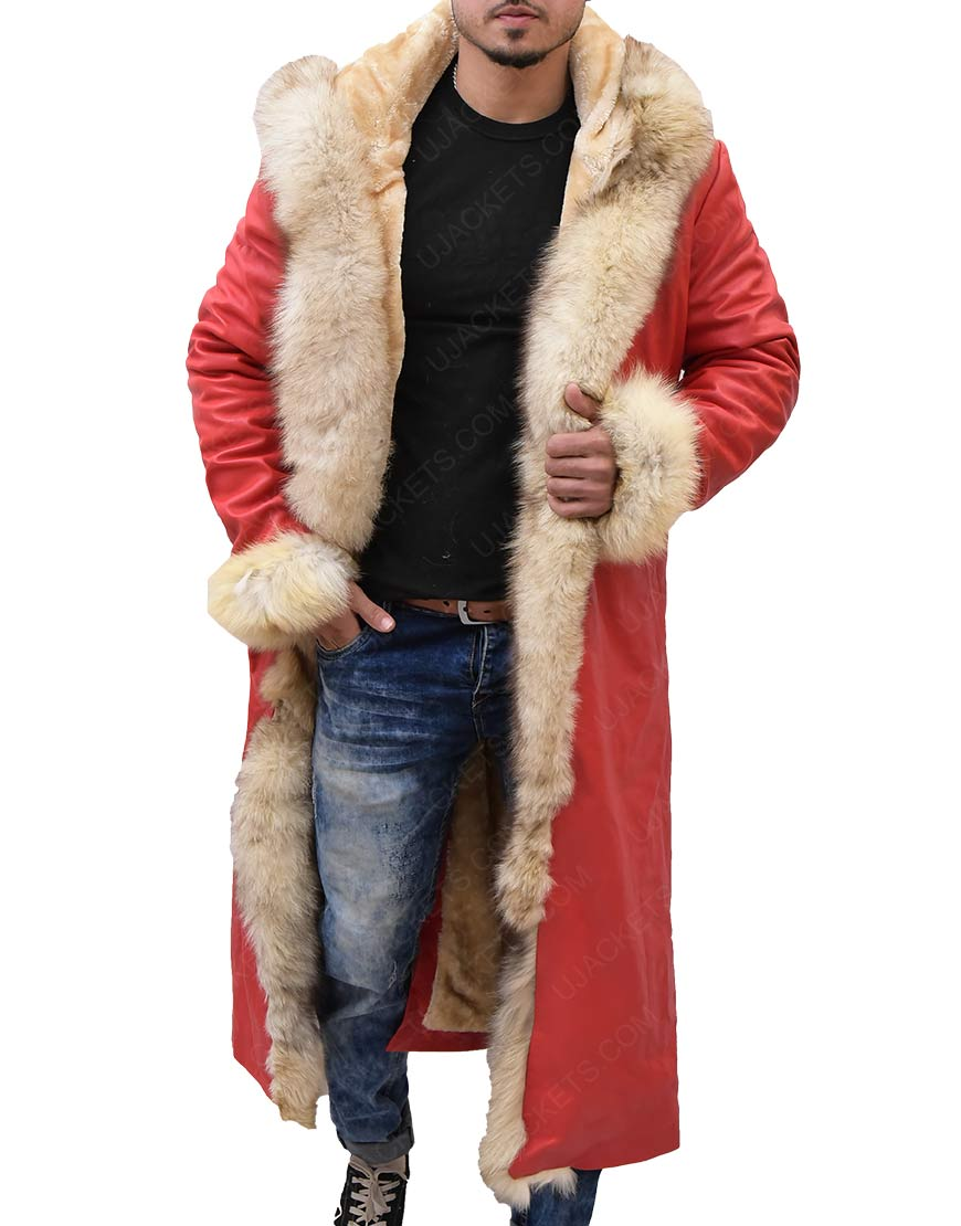The Christmas Chronicles Kurt Russell Shearling Trench Coat