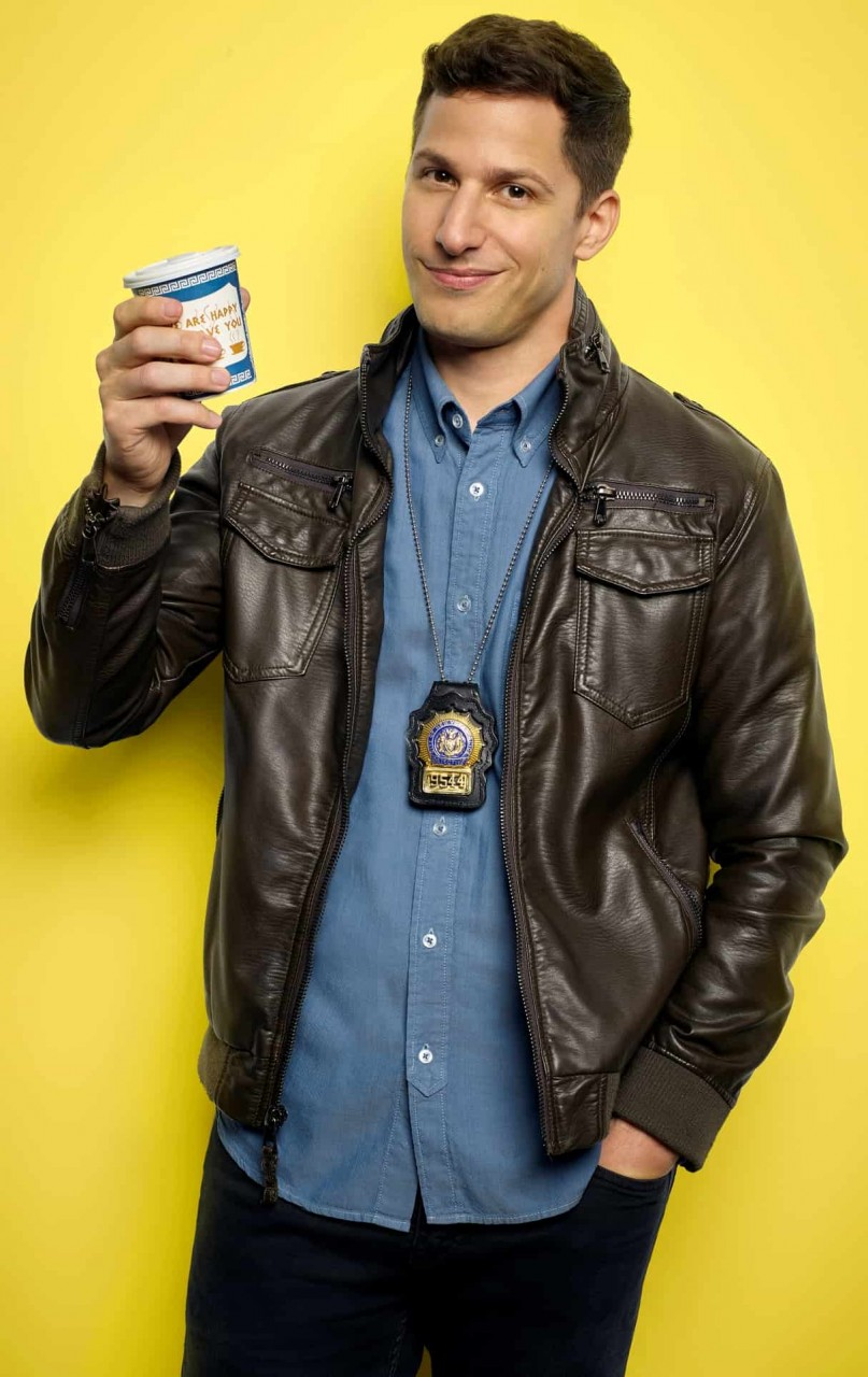 Brooklyn Nine Nine Jake Peralta Black Leather Jacket