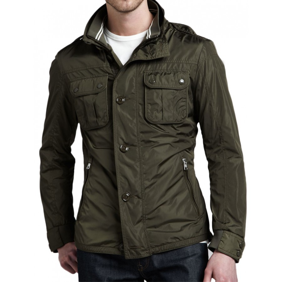 Men's Military Classic Style Green Field Jacket
