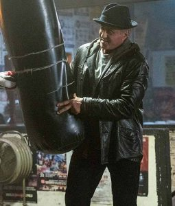 ocky Balboa Creed II Sylvester Stallone Leather Jacket