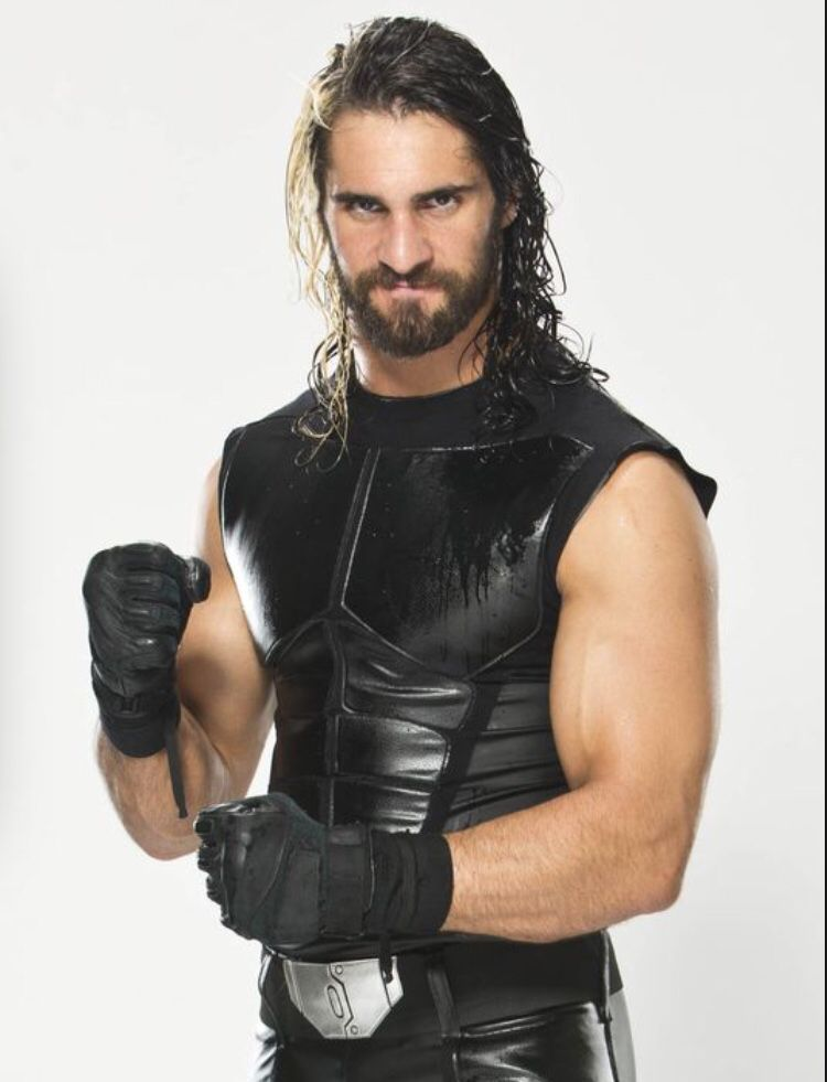 Seth Rollins Black Leather Vest