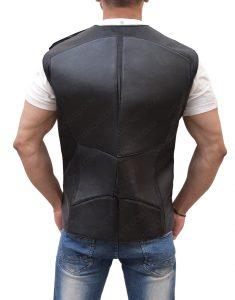 Seth Rollins Black Leather Vest