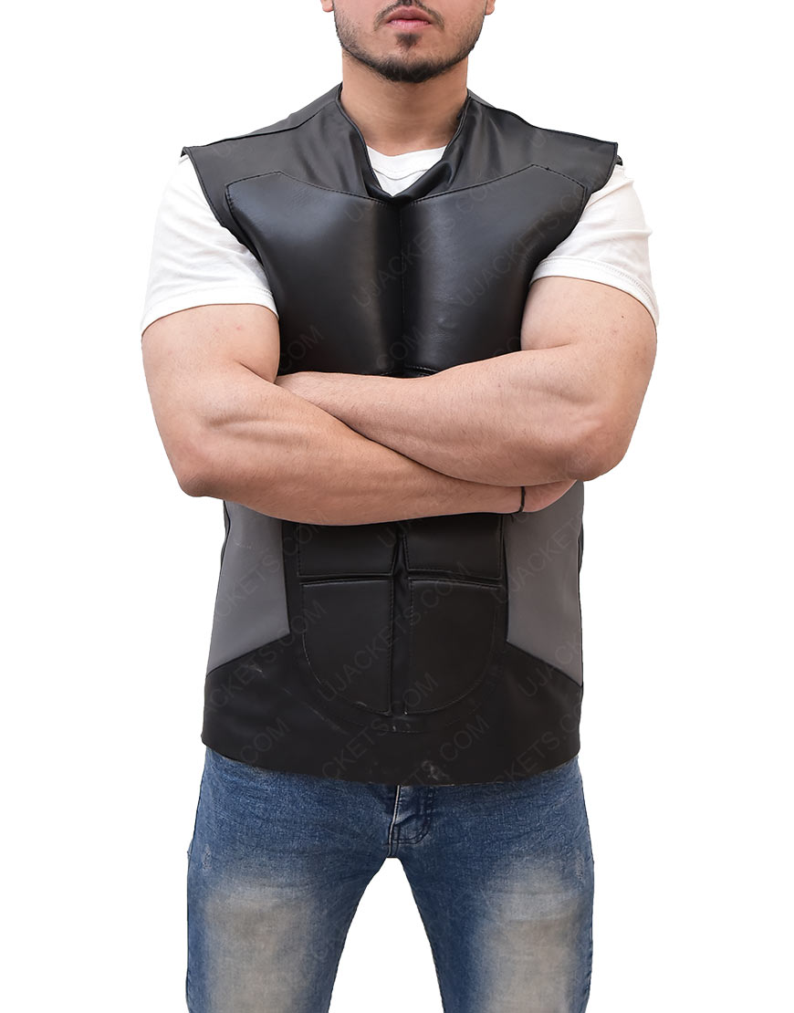 WWE Seth Rollins Black Leather Vest