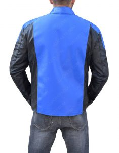 Allen Blackest Night Blue Lantern Leather Jacket