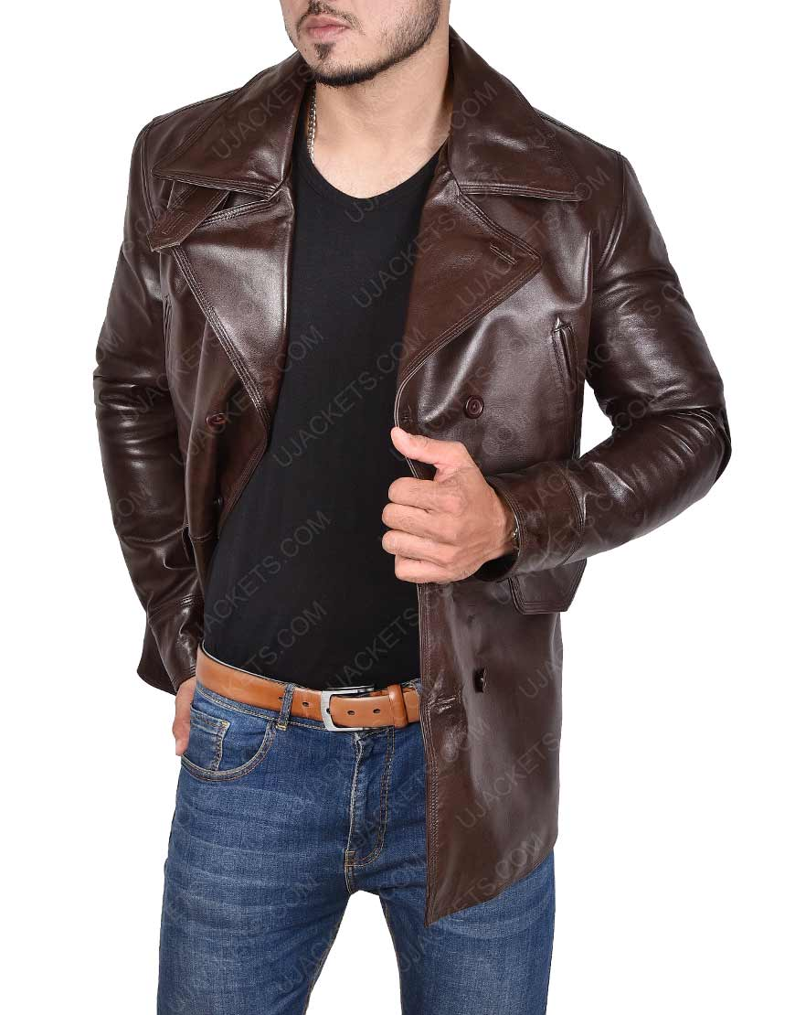 Basterds Brad Pitt Leather Jacket