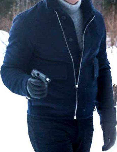 Bond Daniel Craig Lake Blue Wool Jacket