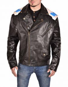 Brendan Fraser Doom Patrol Robotman Cliff Steele Leather Jacket