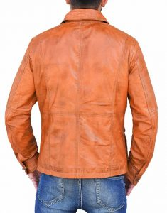 Cafe Racer Brown Bomber Leather Jacket