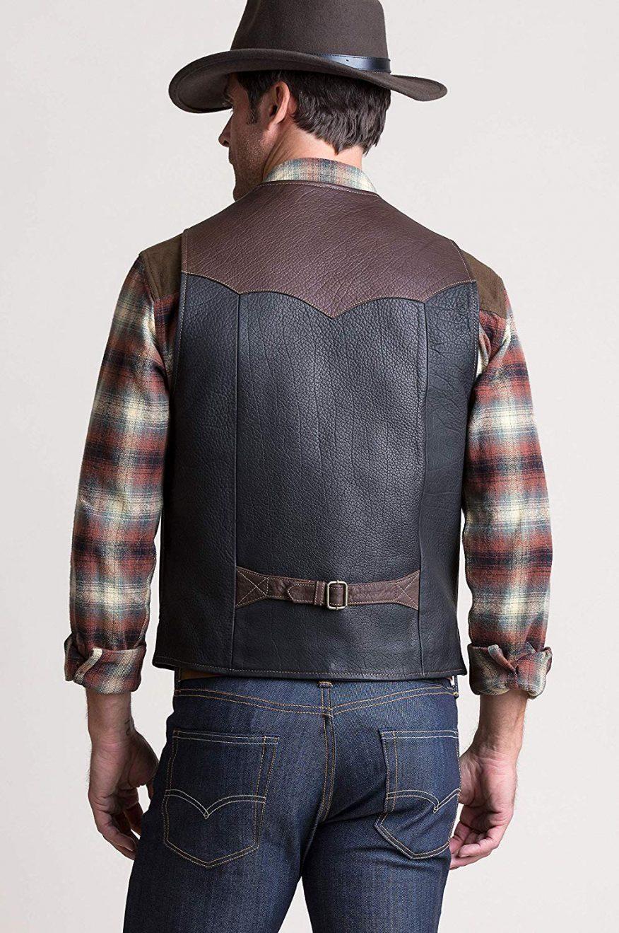 Carry Pockets Leather Vest