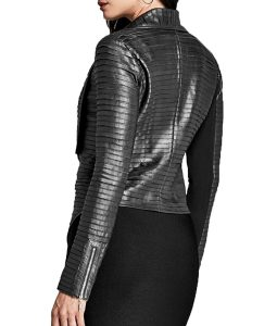 Cheryl Blossom Black Pleated Jacket
