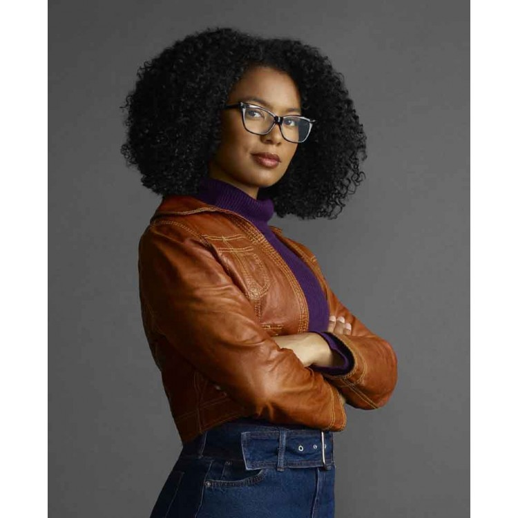 Chilling Adventures of Sabrina Jaz Sinclair Leather Jacket