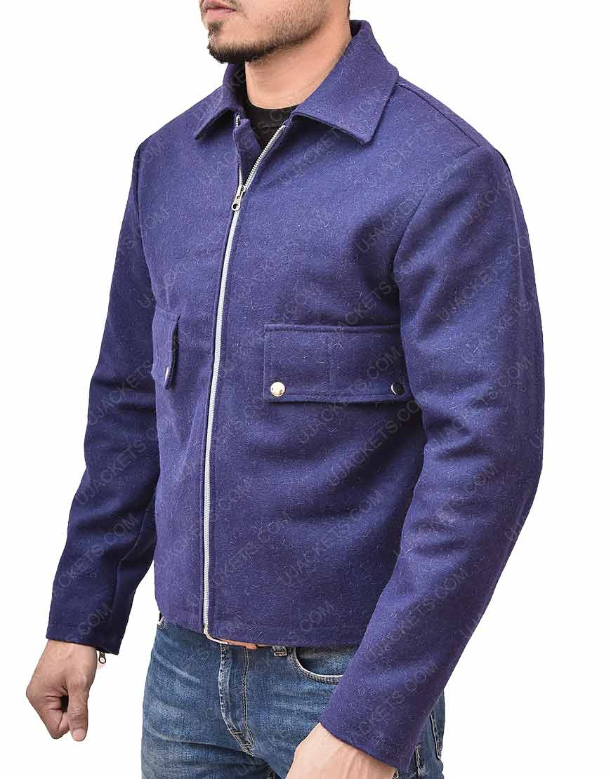 Craig Lake Blue Wool Jacket