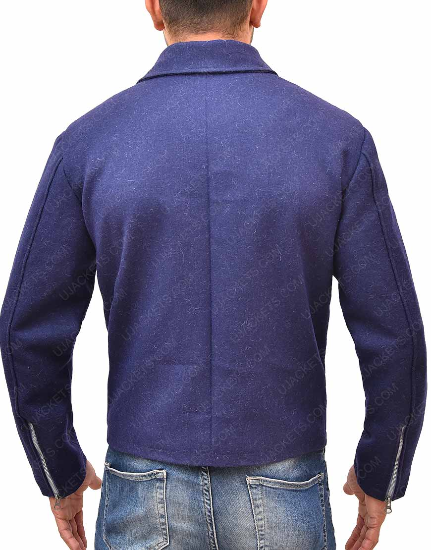 Daniel Craig Blue Wool Jacket