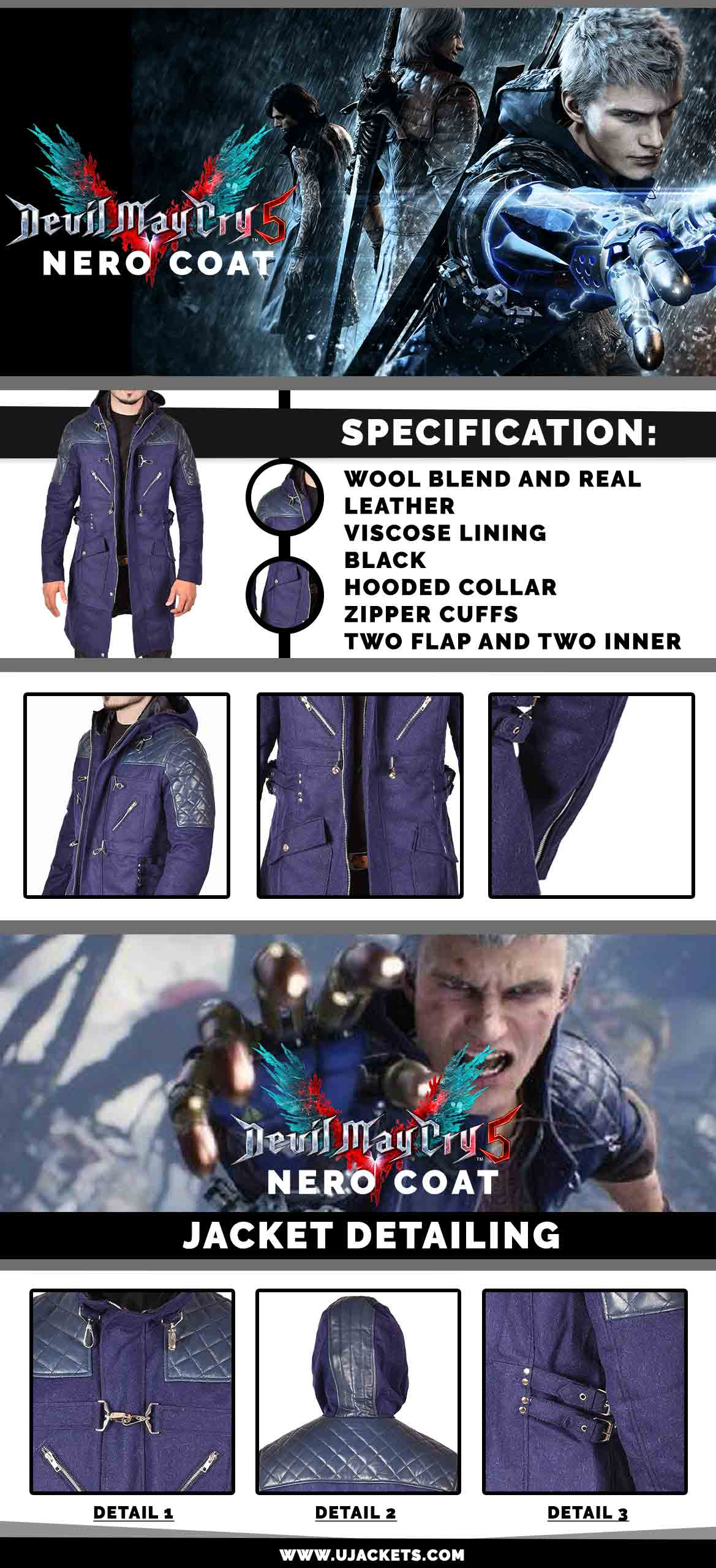 Devil May Cry 5 Nero Coat