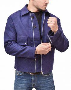 James Bond Daniel Craig Lake Blue Wool Jacket