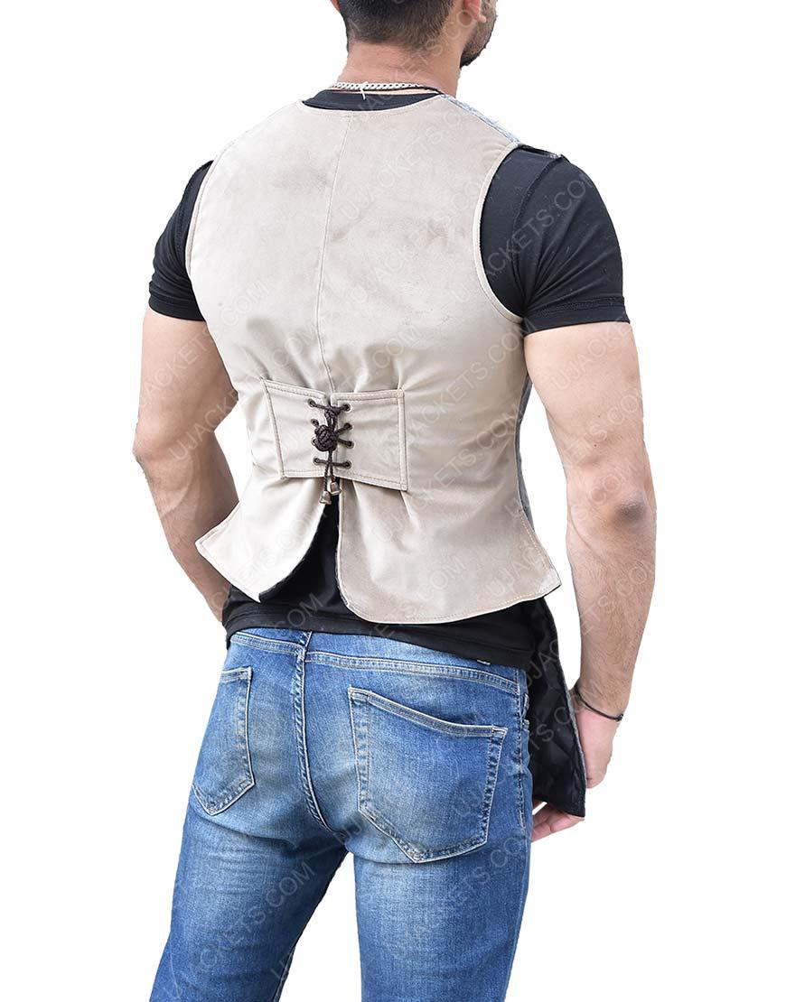 Johnny Depp Pirates Of The Caribbean Jack Sparrow Distressed Vest