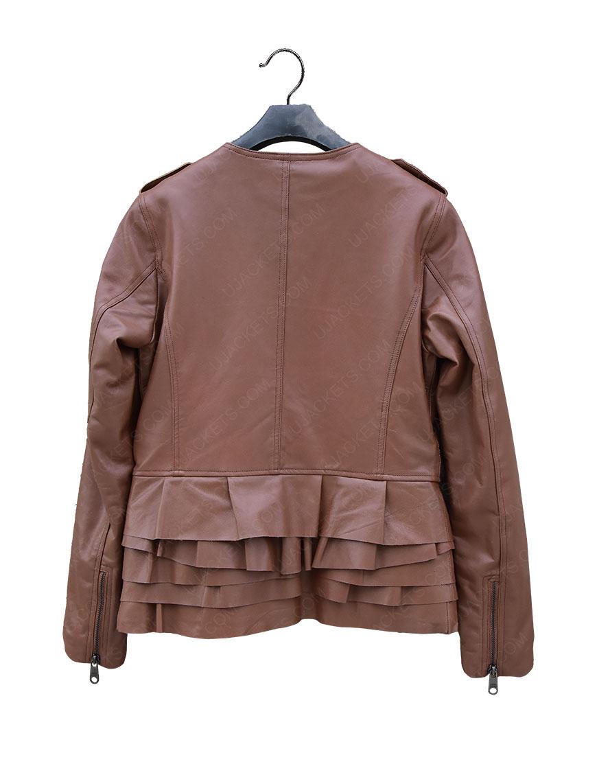 Phillip Lim Ruffle Leather Jacket