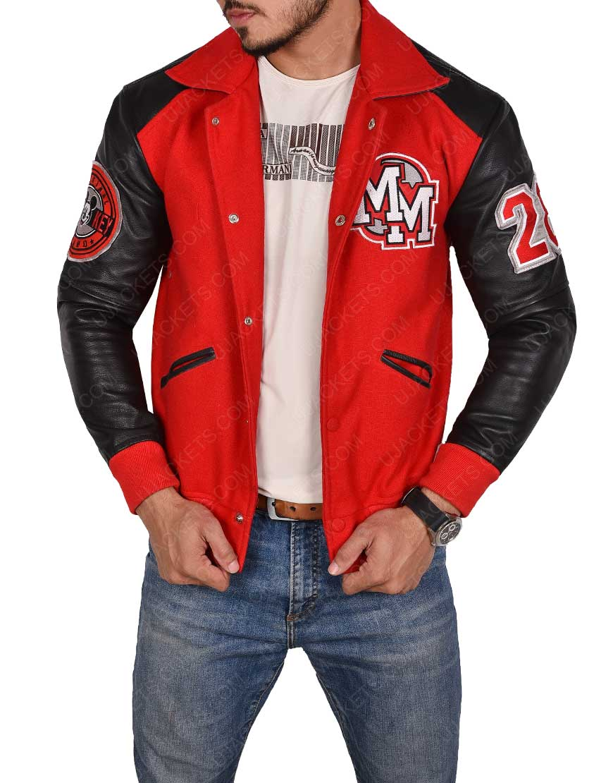 Red and Black Letterman Jacket