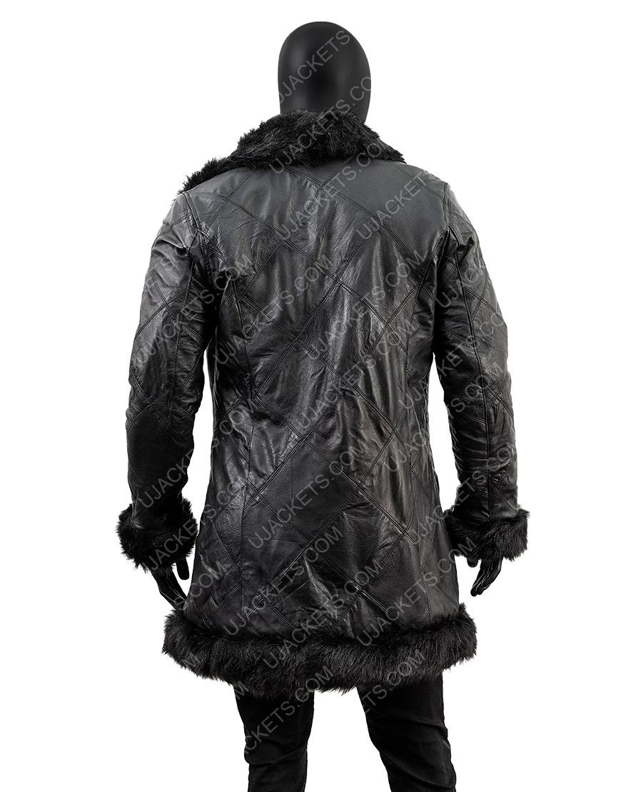 Robert Sheehan The Umbrella Academy Klaus Fur Trench Coat