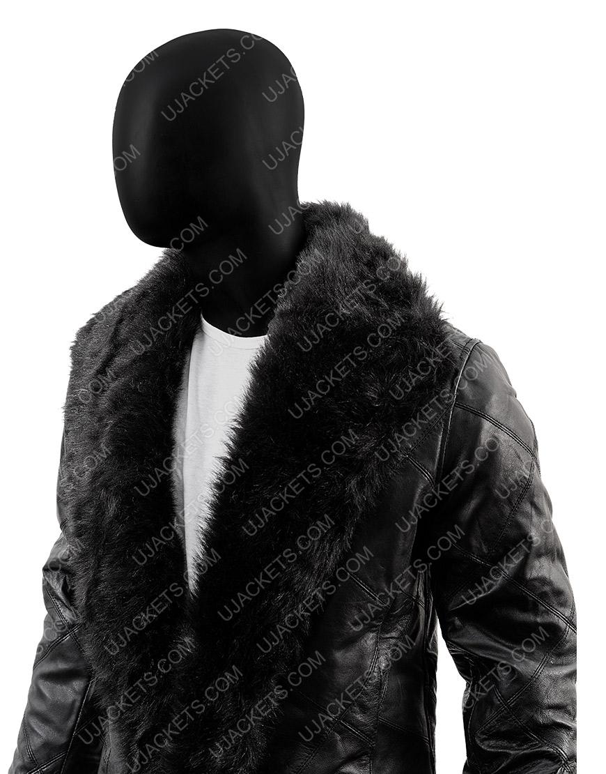 Robert Sheehan The Umbrella Academy Shearling Fur Trench Coat