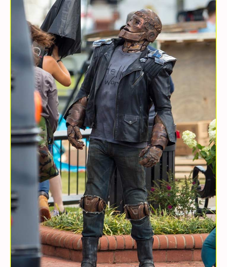 Brendan Fraser Doom Patrol Robotman Cliff Steele Leather Jacket