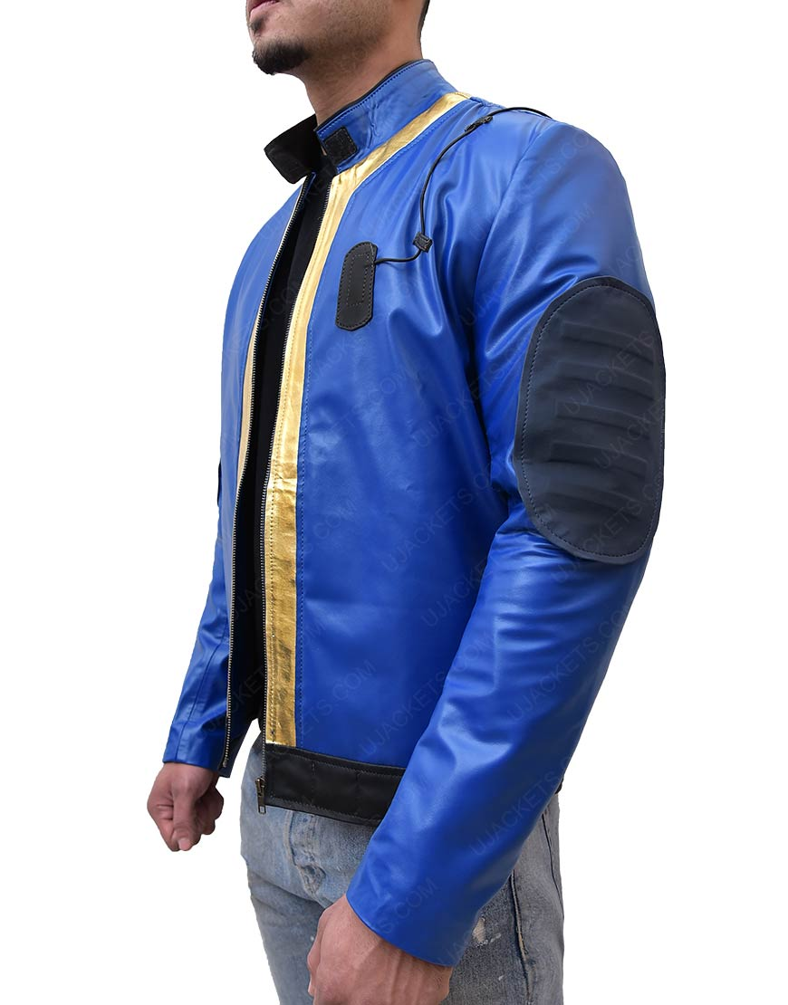 Video Game Fallout 76 Blue Leather Jacket