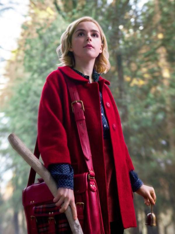 sabrina red coat