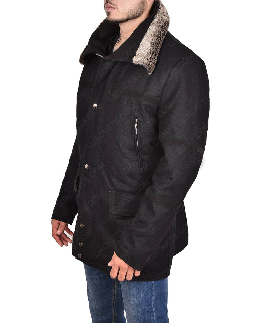 Abraham Ford Fur Collar Jacket