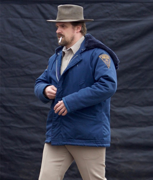 Blue Jim Hopper Jacket From Stranger Things