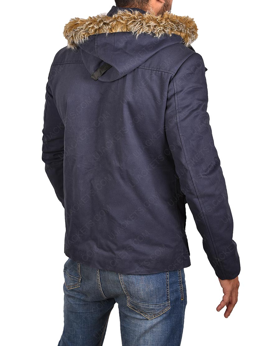 Cold Jacket with Fur Collar Hoodie