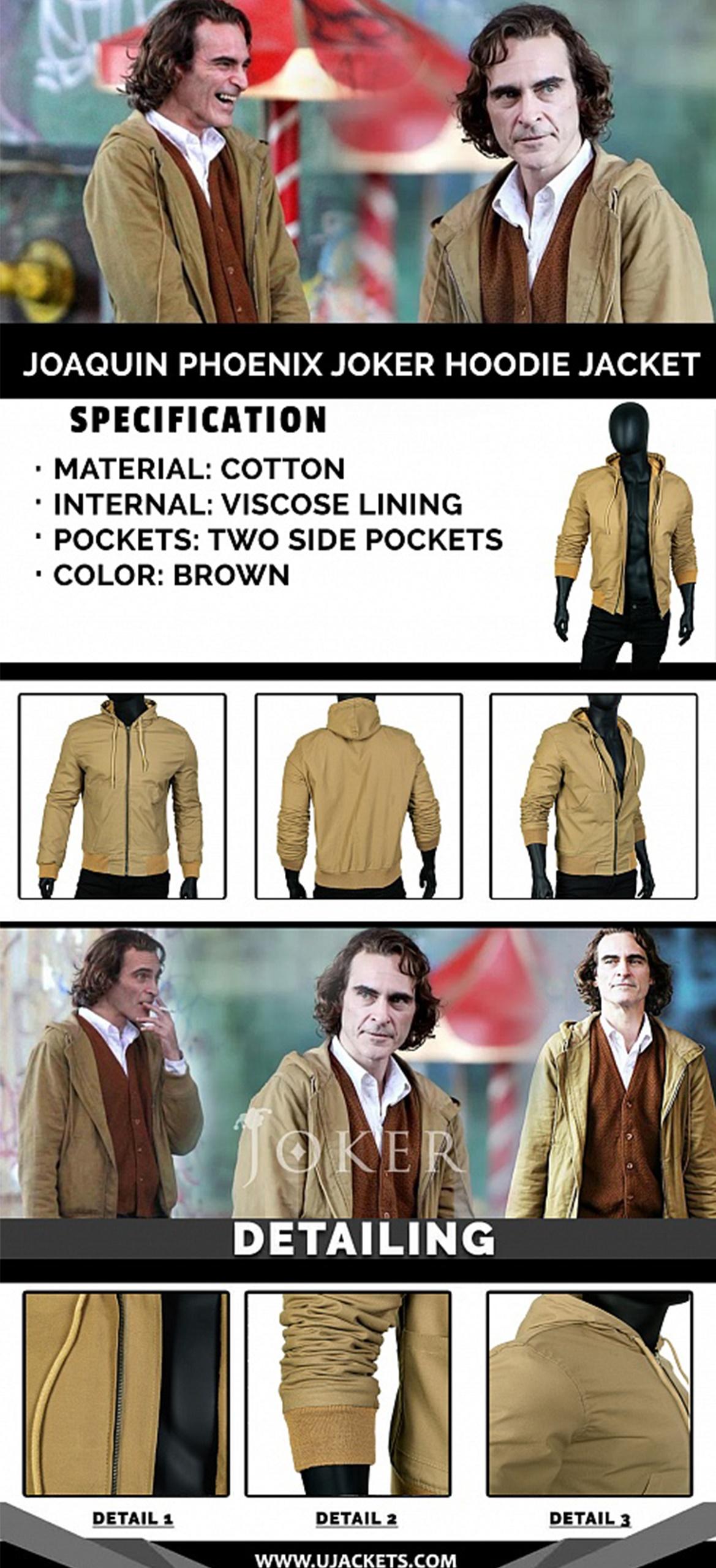 Joaquin Phoenix Joker Hoddie Jacket