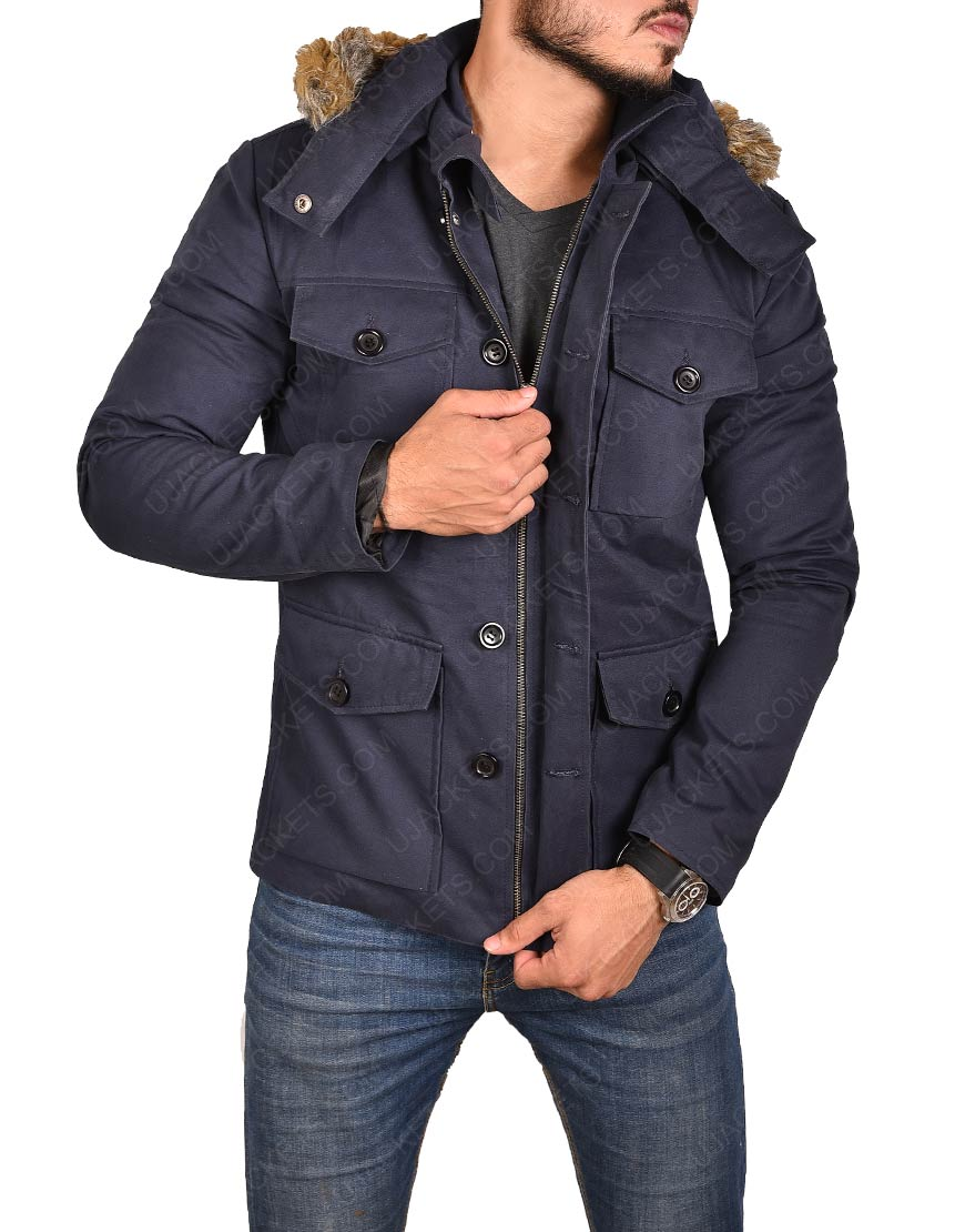 Legends of Tomorrow Captain Cold Cotton Jacket with Fur Collar Hoodie
