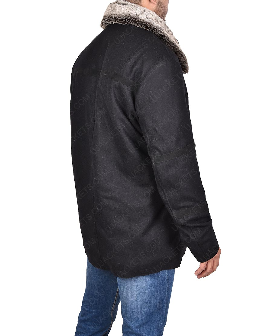 Michael Cudlitz Abraham Ford Fur Collar Jacket