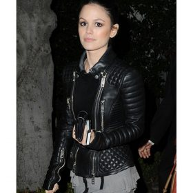 Rachel Bilson Black Quilted Leather Jacket