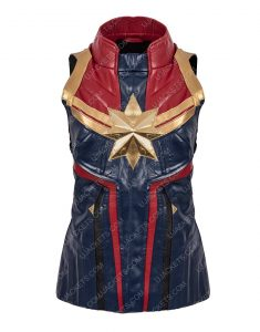 Carol Danvers Captain Marvel Leather Vest