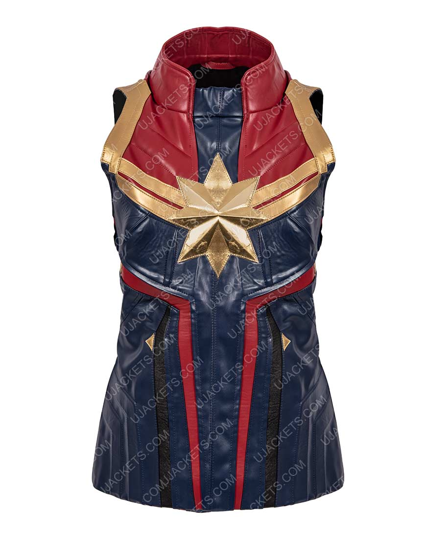Carol Danvers Captain Marvel Leather Vest