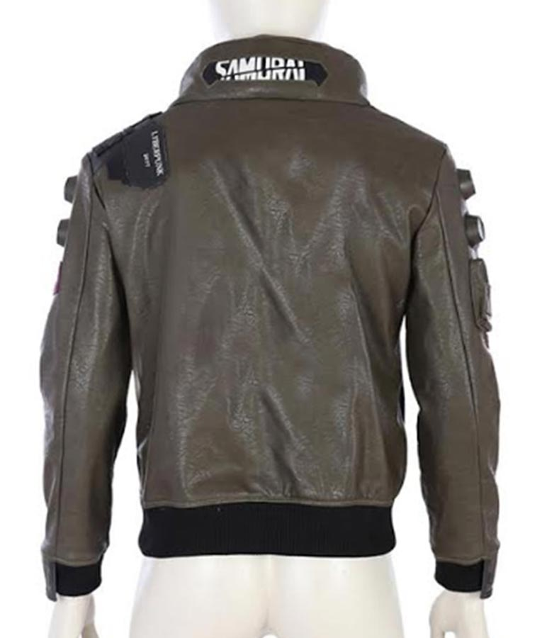 Cyberpunk 2077 Samurai Character V Leather Jacket