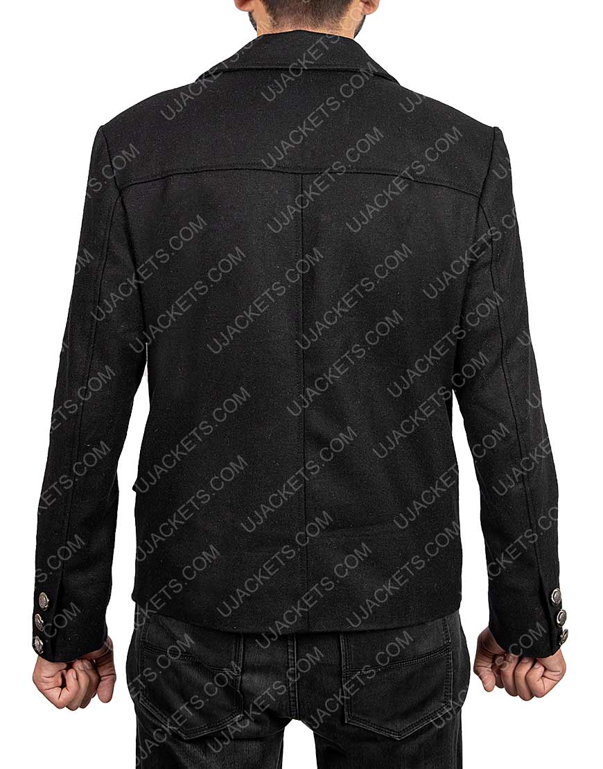 David Tennant Crowley Good Omens Black Wool Jacket