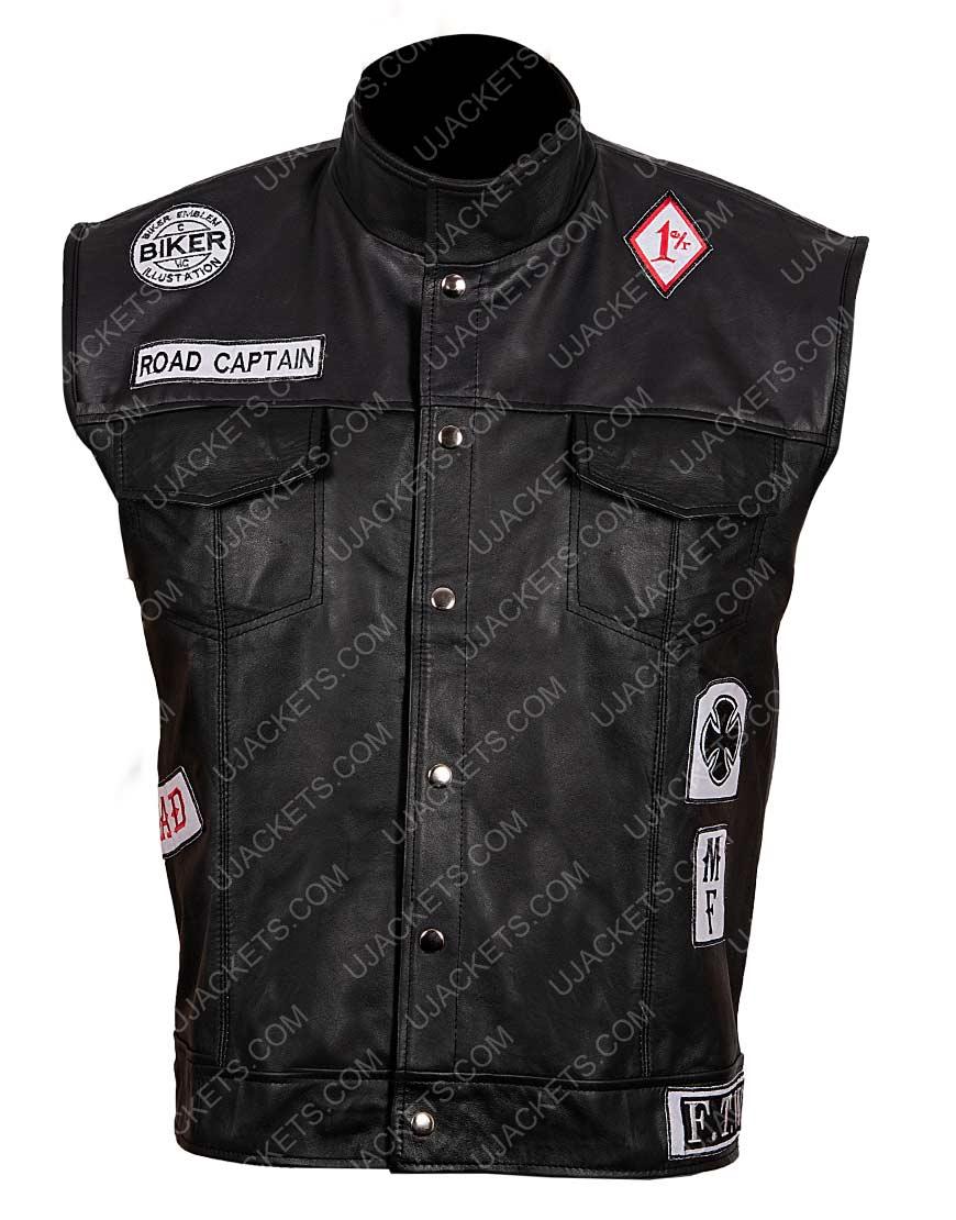 Deacon St. John Days Gone Leather Vest