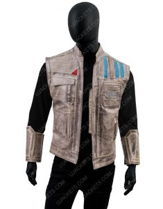 John Boyega Star Wars Rise of the Skywalker Finn Leather Vest