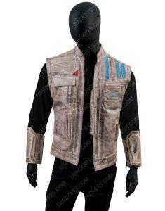 John Boyega Star Wars Rise of the Skywalker Finn Leather Vest
