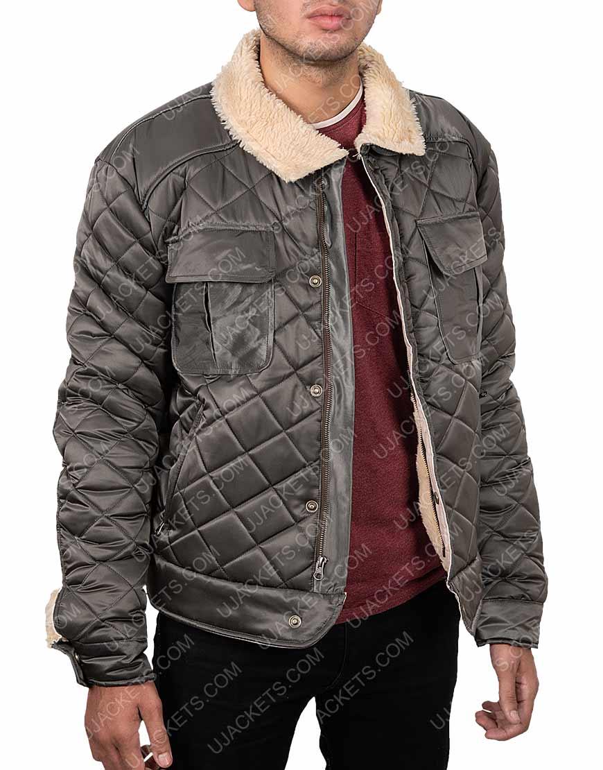 Killer Gerard Butler Quilted Shearling Jacket