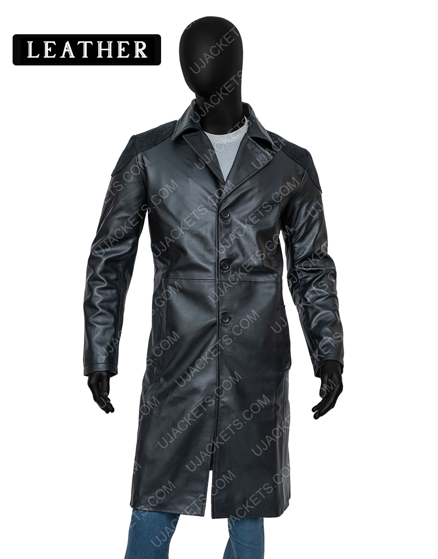 Billy Butcher The Boys Karl Urban Leather Trench Coat