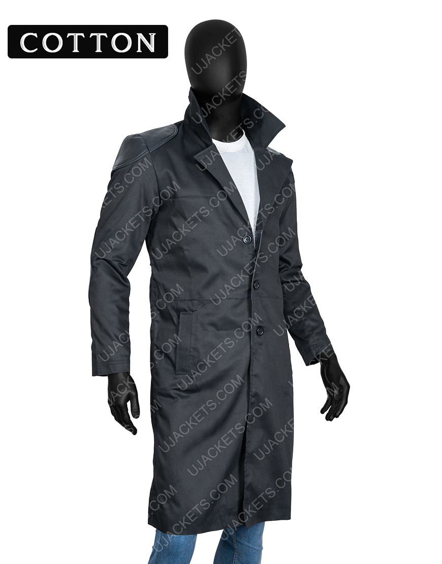 Billy Butcher The Boys Karl Urban Trench Black Cotton Coat