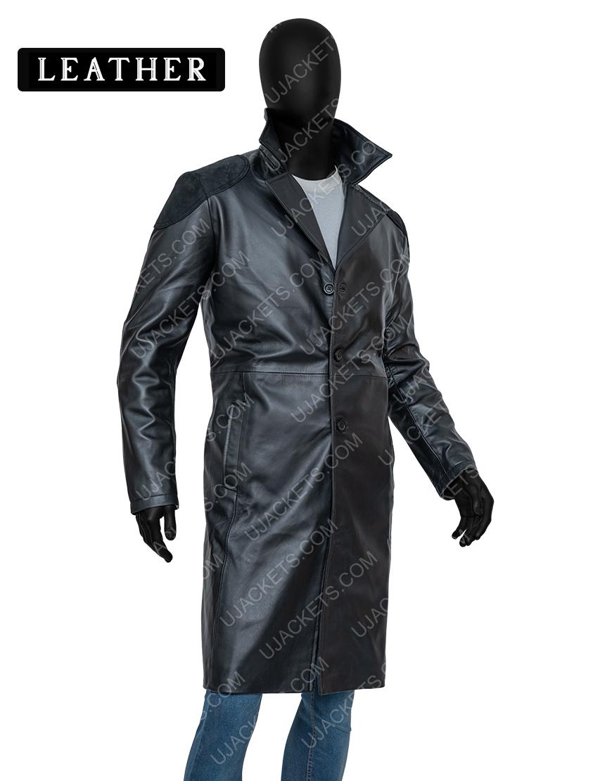 Billy Butcher The Boys Karl Urban Trench Black Letaher Coat