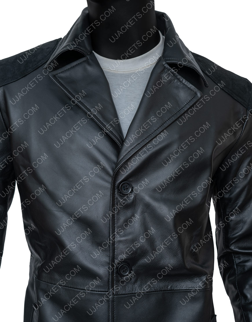 Billy Butcher The Boys Karl Urban Trench Leather Coat Front